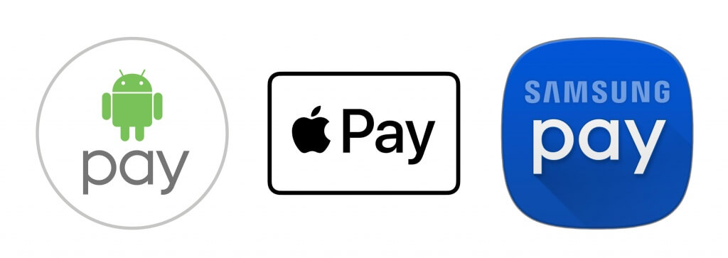 Apple Pay, Samsung Pay, Android Pay